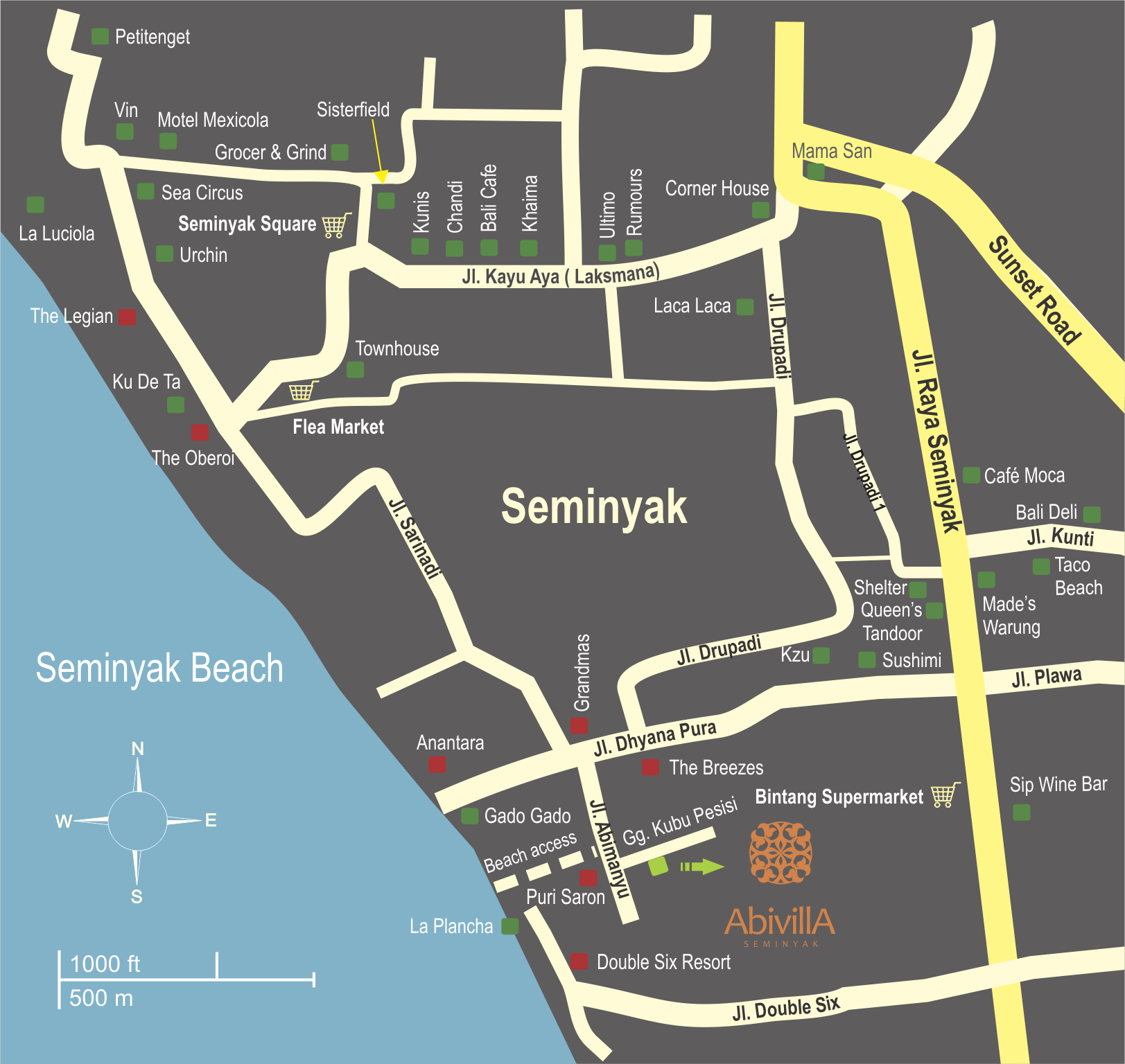Abi Villa Map